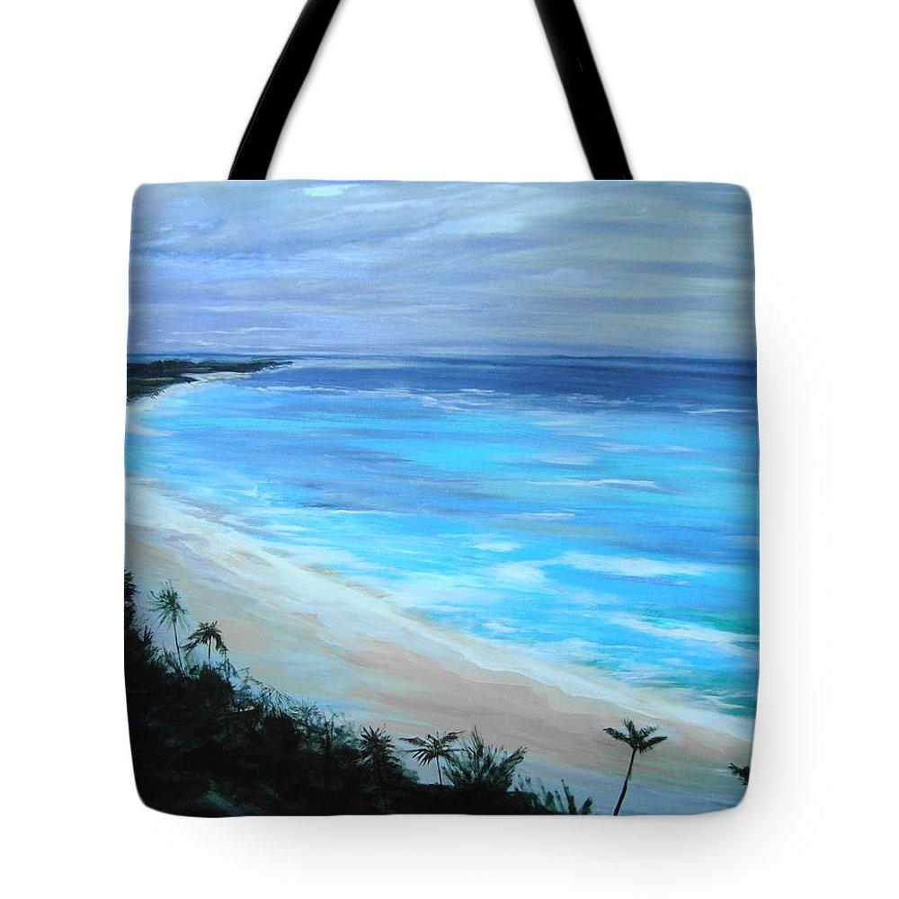 Ocean Tote Bag featuring the painting Atlantis by Jan VonBokel