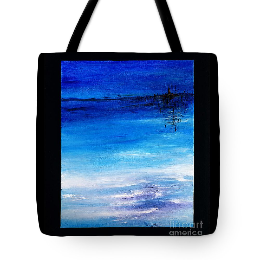 Blue Tote Bag featuring the painting Atlantis by Vanessa Martin
