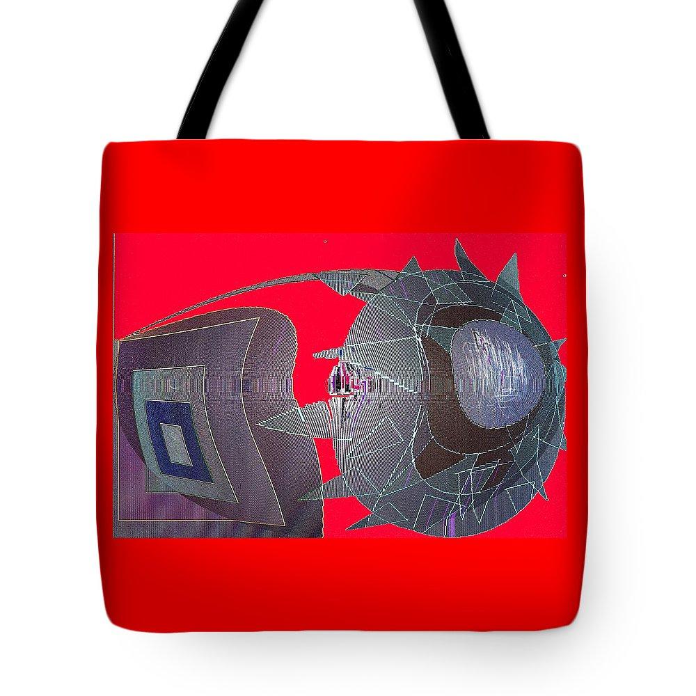 Digital Tote Bag featuring the digital art Attack by Ian MacDonald