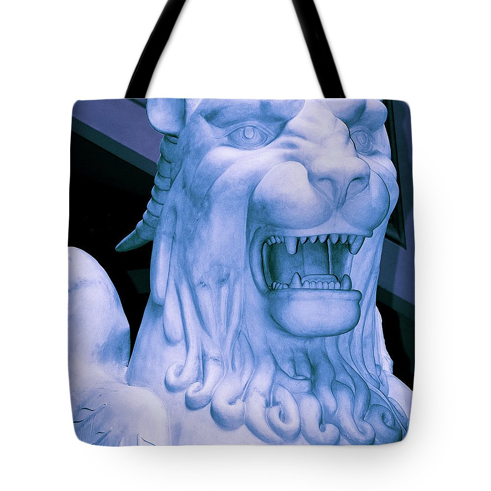 Gryphon Tote Bag featuring the photograph Attack Of The Gryphon by William Dey
