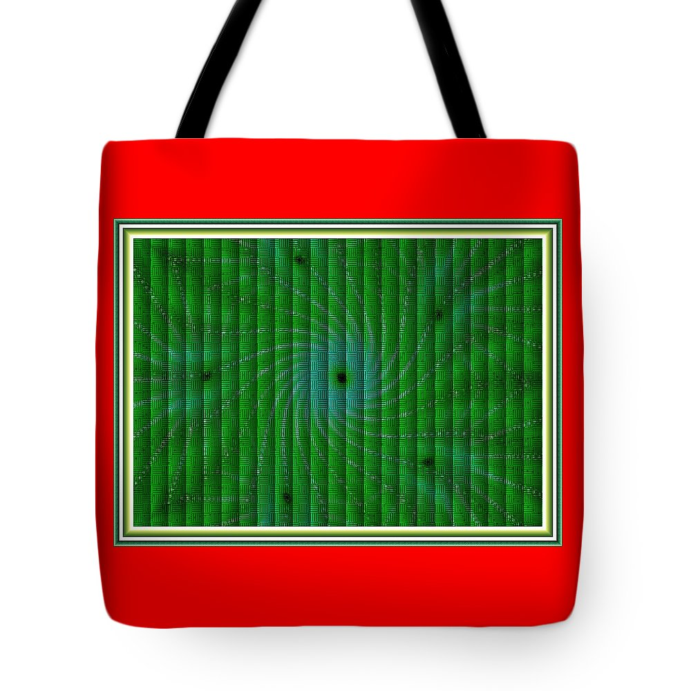 Modern Art Tote Bag featuring the painting Attempt L B With Decorative Ornate Printed Frame. by Gert J Rheeders