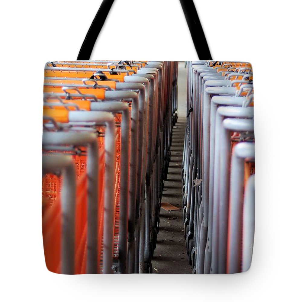 Cart Tote Bag featuring the photograph Attention Shoppers...lol by John S