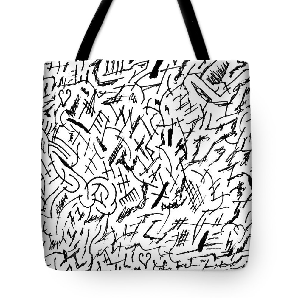 Mazes Tote Bag featuring the drawing Audacious by Steven Natanson