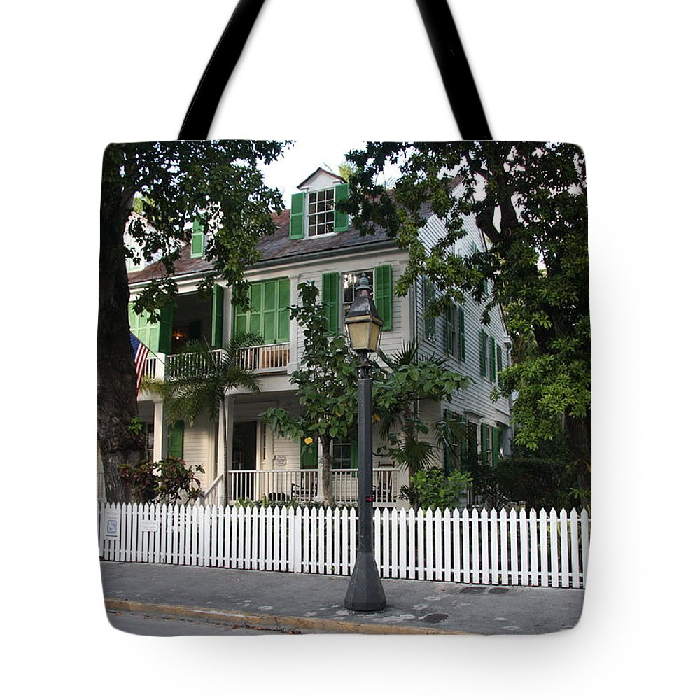 House Tote Bag featuring the photograph Audubon House Key West by Christiane Schulze Art And Photography