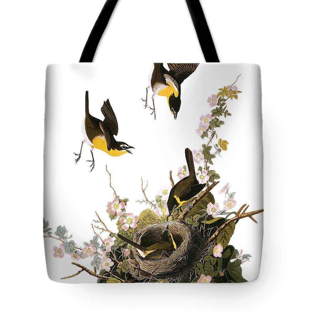 1827 Tote Bag featuring the photograph Audubon: Yellow Chat, (1827-38) by Granger