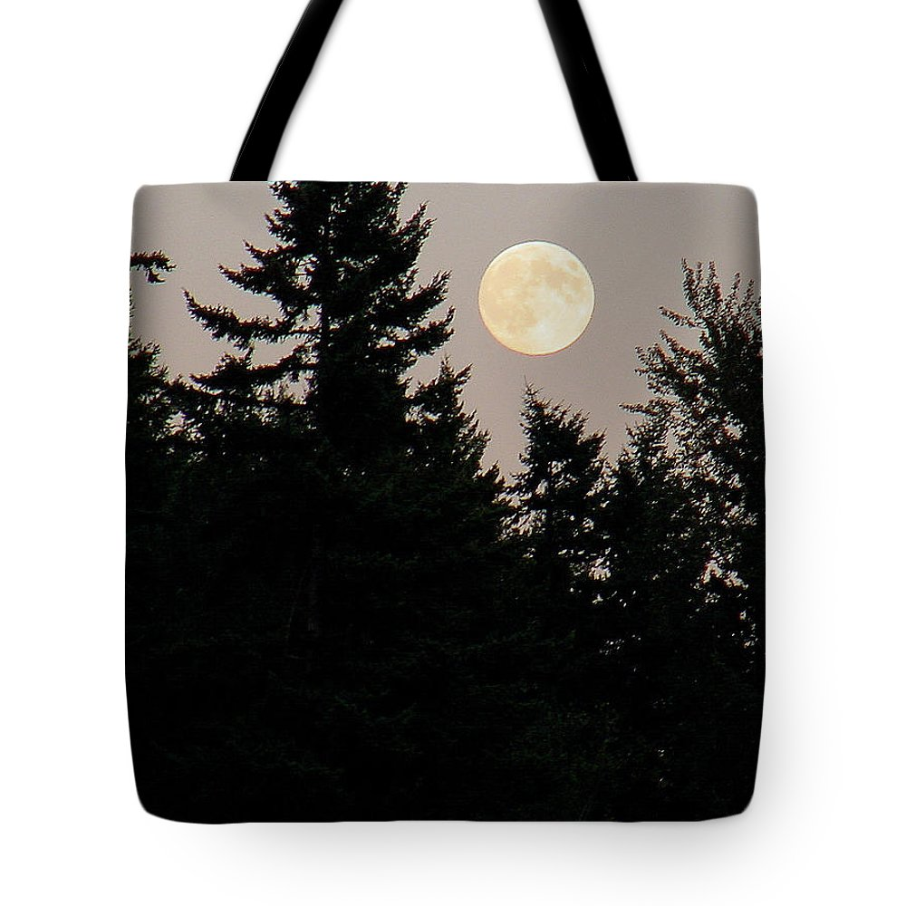 August Tote Bag featuring the photograph August Full Moon - 1 by Shirley Heyn
