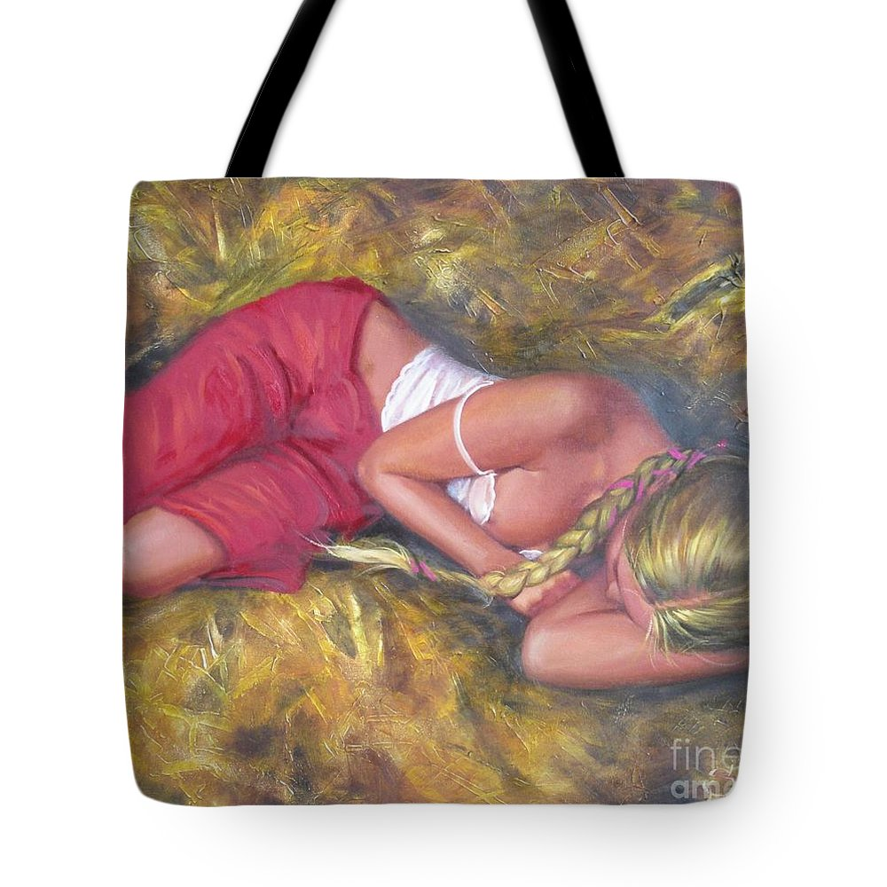 Ignatenko Tote Bag featuring the painting August by Sergey Ignatenko