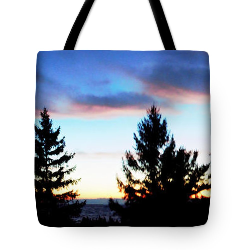 Grand Bend Tote Bag featuring the photograph August Shadows by John Scatcherd