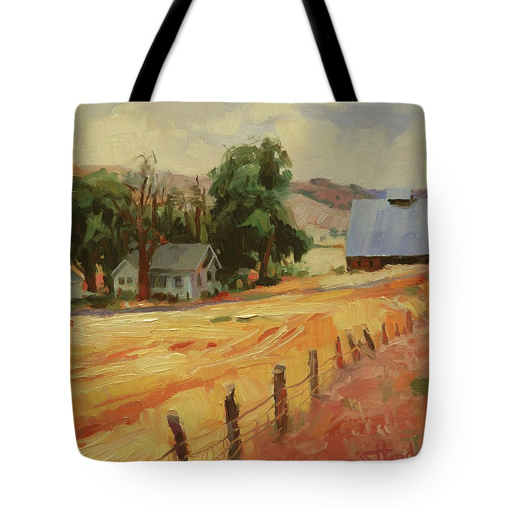 Country Tote Bag featuring the painting August by Steve Henderson