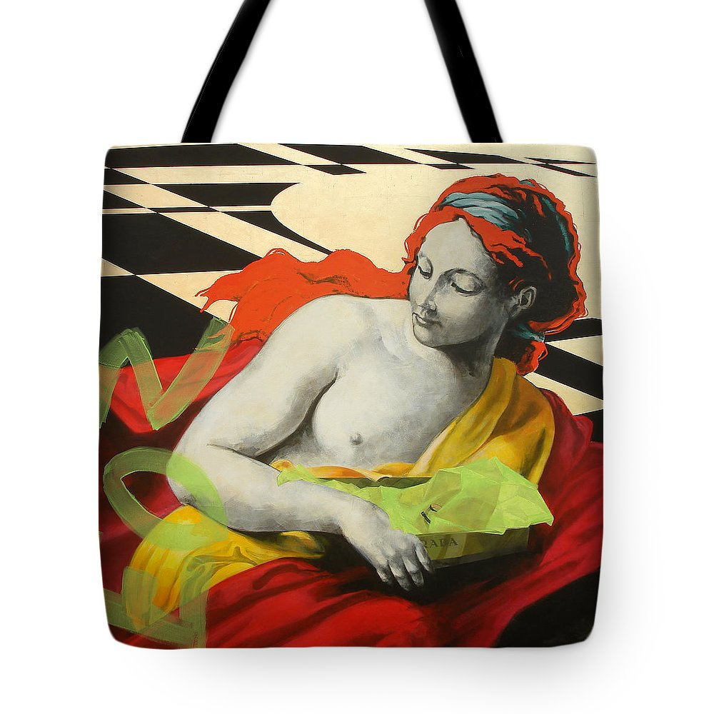 Mythology Tote Bag featuring the painting Aurora by Jean Pierre Rousselet