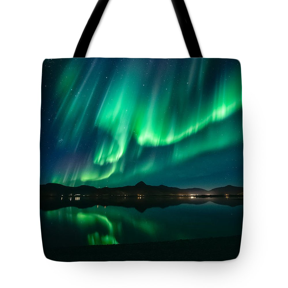 Aurora Borealis Tote Bag featuring the photograph Aurora Surprise by Tor-Ivar Naess