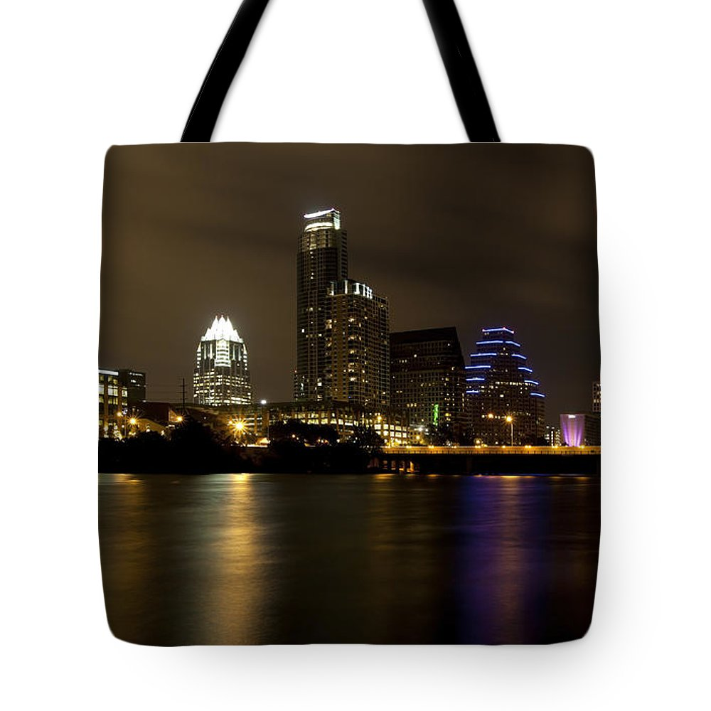 Austin Tote Bag featuring the photograph Austin Texas Skyline by Anthony Totah
