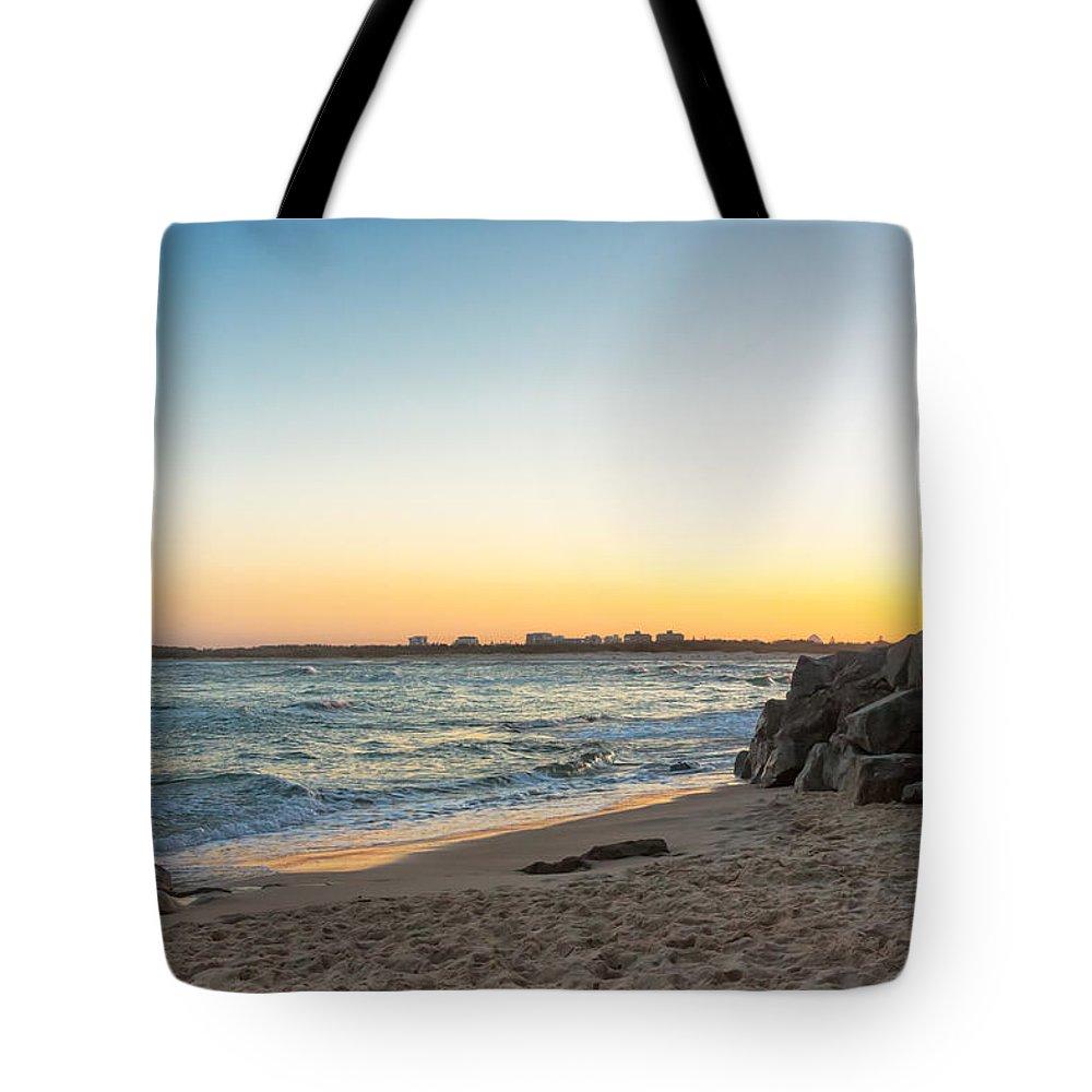Australia Tote Bag featuring the photograph Australian Beach Sunset by Jukka Heinovirta