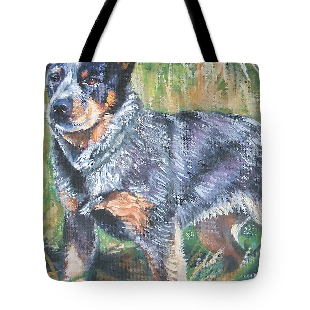 Australian Cattle Dog Tote Bag featuring the painting Australian Cattle Dog 1 by Lee Ann Shepard