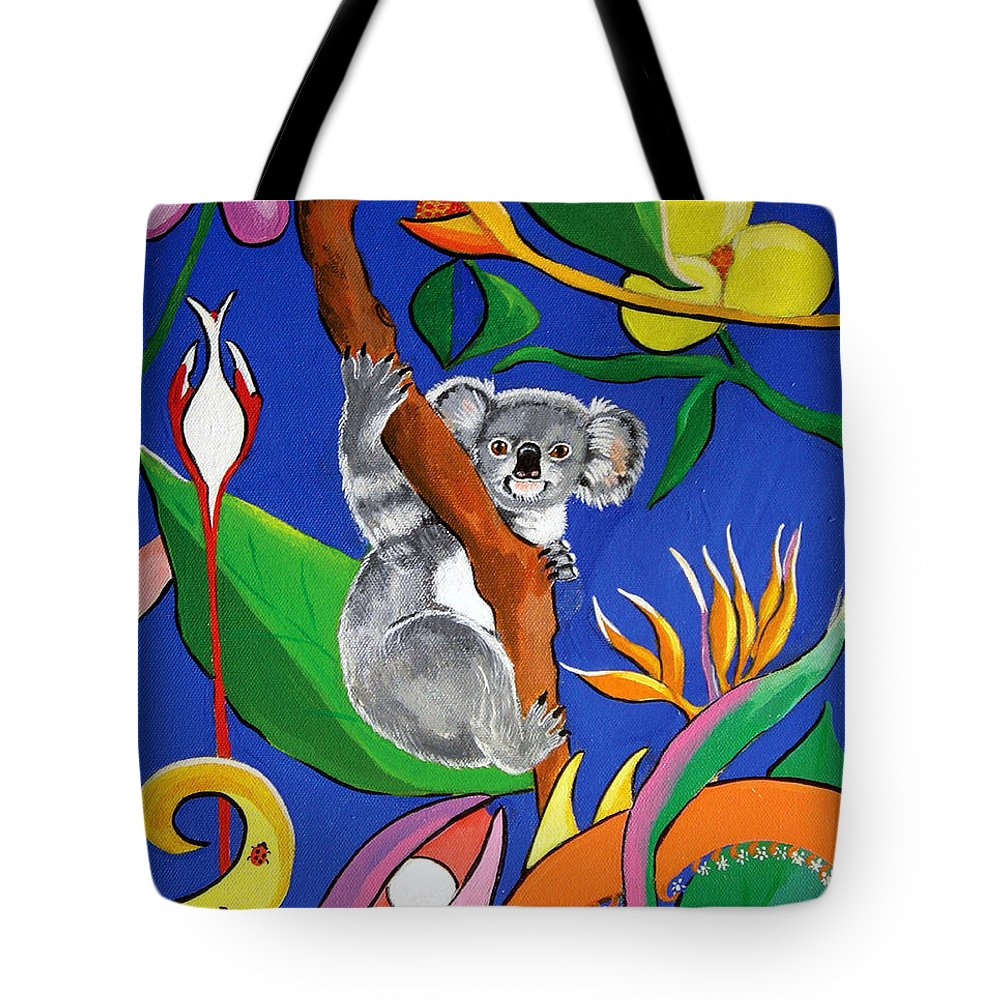 Australian Tote Bag featuring the painting Australian Koala by Gloria Dietz-Kiebron