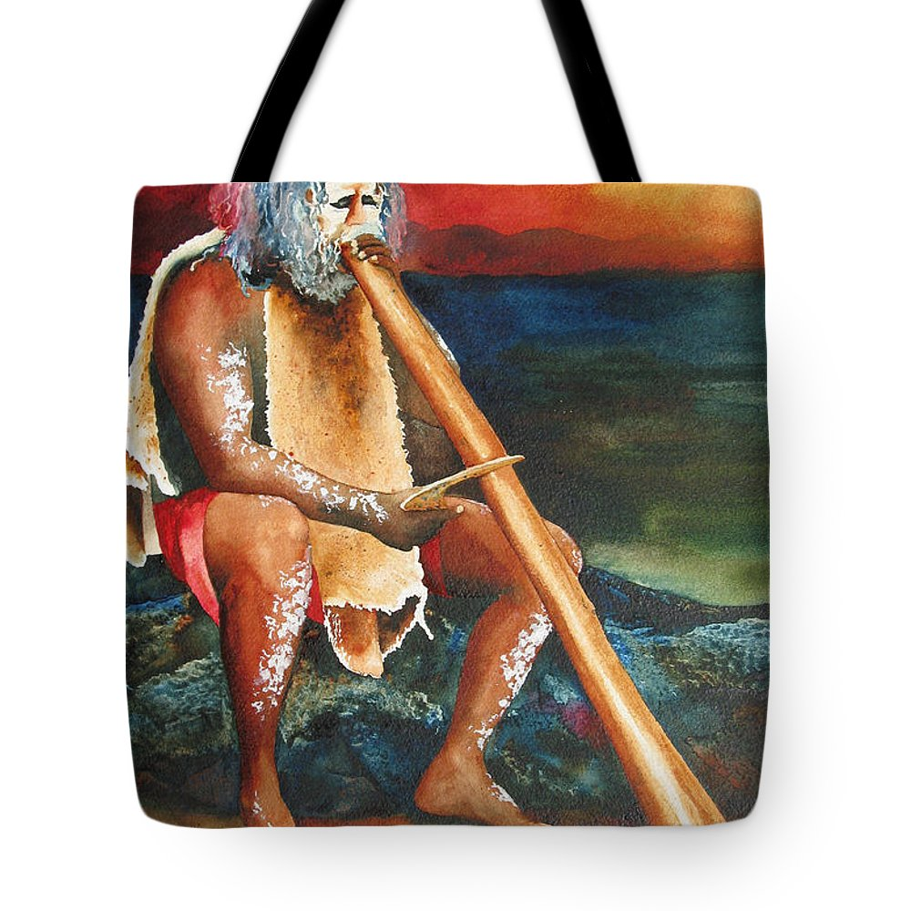 Australian Tote Bag featuring the painting Australian Solo by Karen Stark