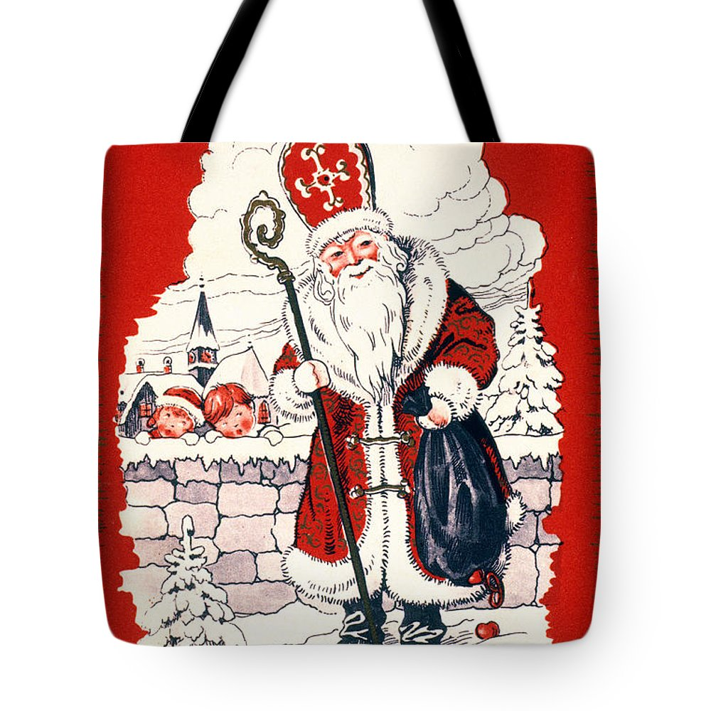 19th Century Tote Bag featuring the photograph Austrian Christmas Card by Granger