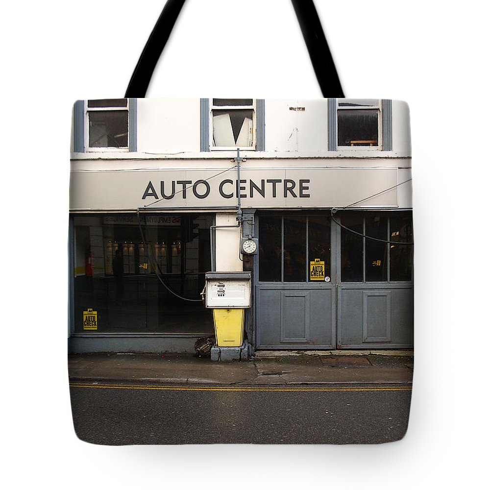 Auto Tote Bag featuring the photograph Auto Centre by Tim Nyberg