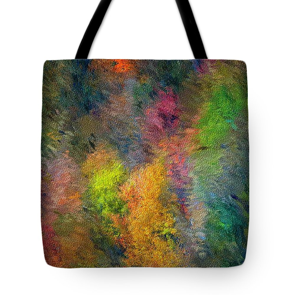 Landscape Tote Bag featuring the digital art Autum Hillside by David Lane