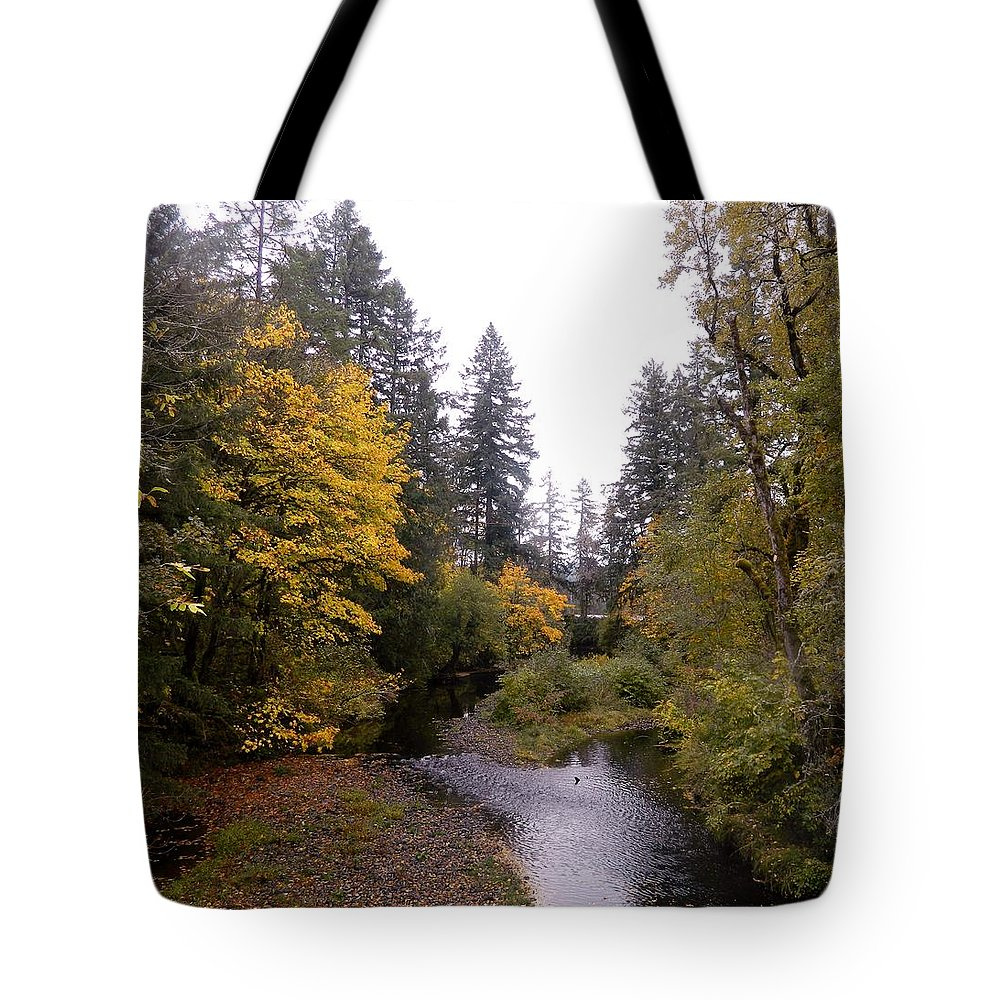 Water Tote Bag featuring the photograph Autum In Oregon by Jan St Clair