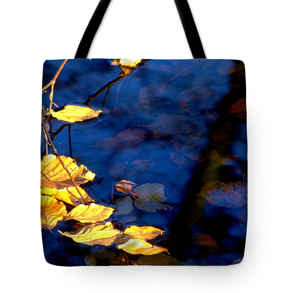 Leaves Tote Bag featuring the photograph Autum Leaves by Michael Mogensen