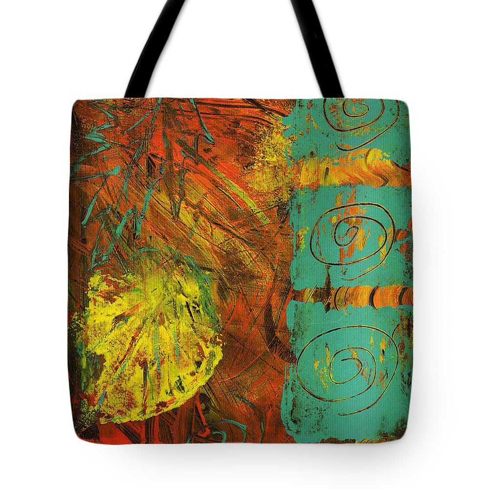 Autumn Tote Bag featuring the painting Autumen Abstract by Wayne Potrafka