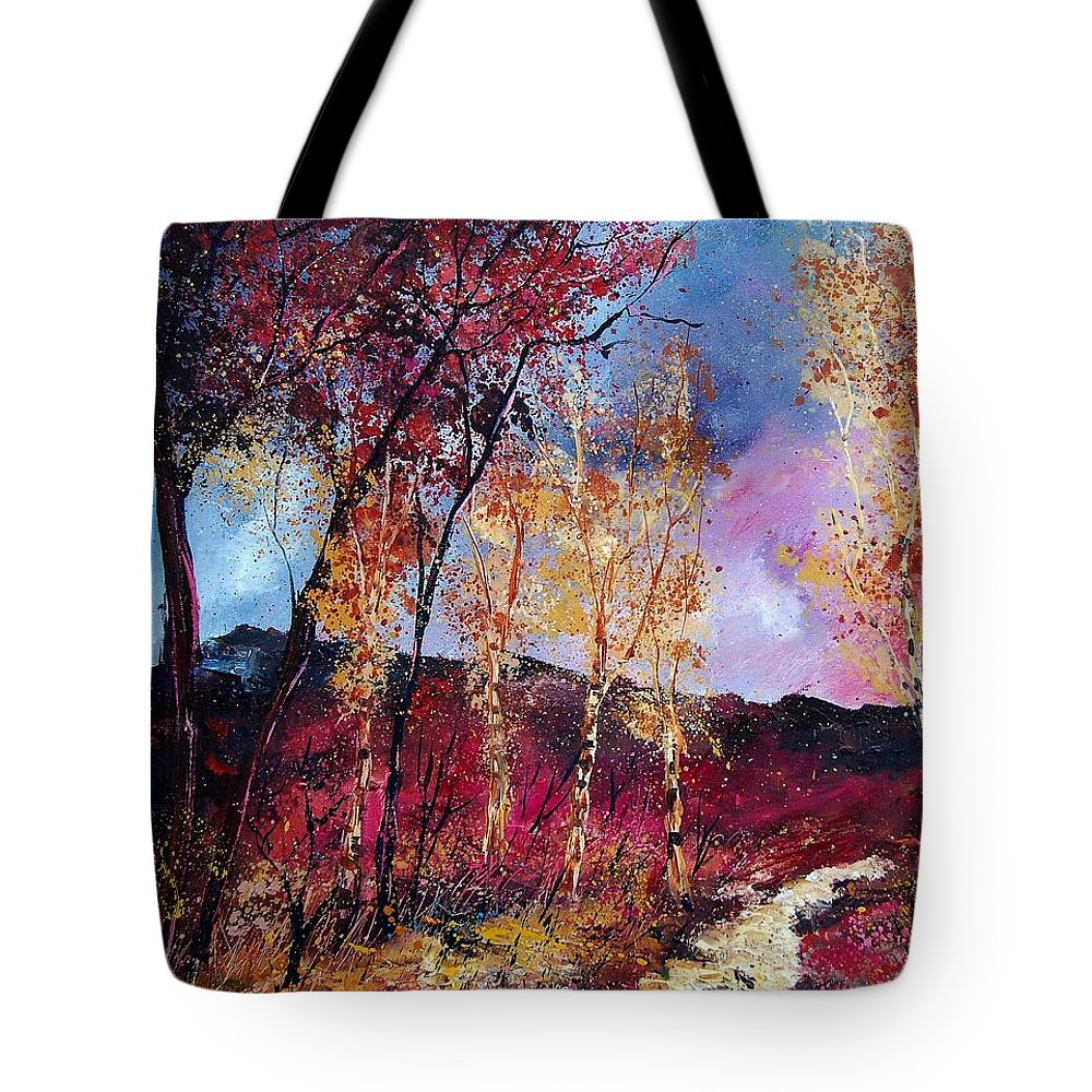 Landscape Tote Bag featuring the painting Autumn 760808 by Pol Ledent