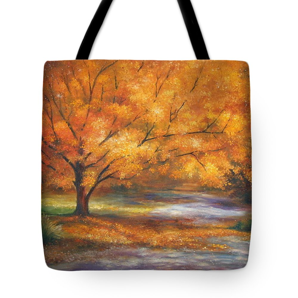 Fall Tote Bag featuring the painting Autumn by Ann Cockerill