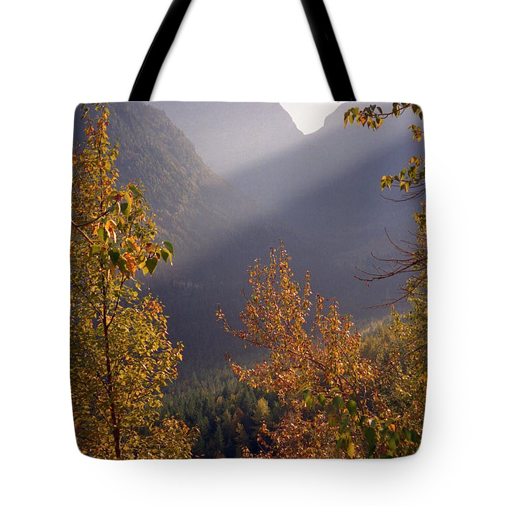 Mountains Tote Bag featuring the photograph Autumn At Logan Pass by Richard Rizzo