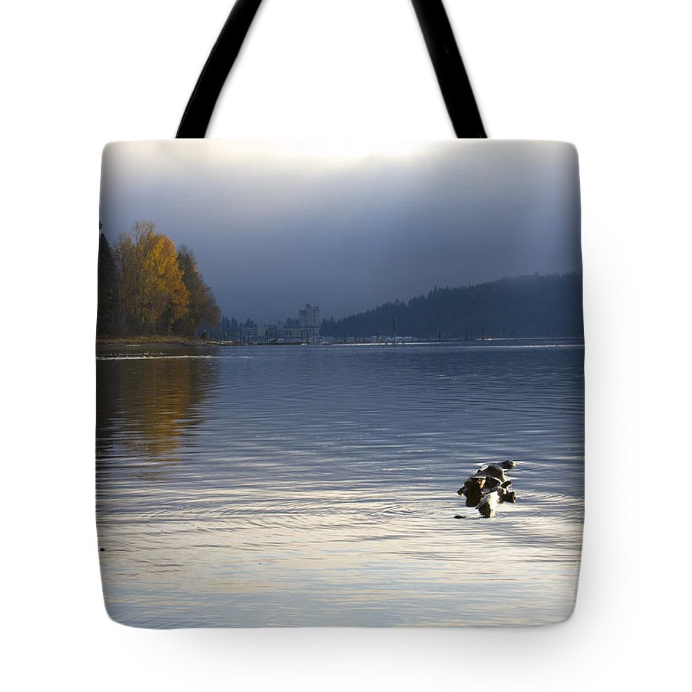 Lake Coeur D' Alene Tote Bag featuring the photograph Autumn At The Lake by Idaho Scenic Images Linda Lantzy