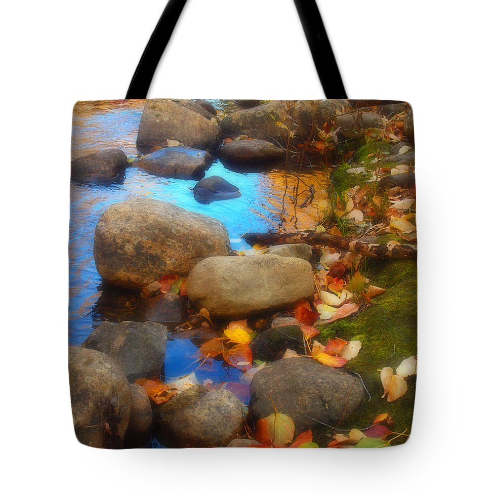 Autumn Tote Bag featuring the photograph Autumn By The Creek by Tara Turner