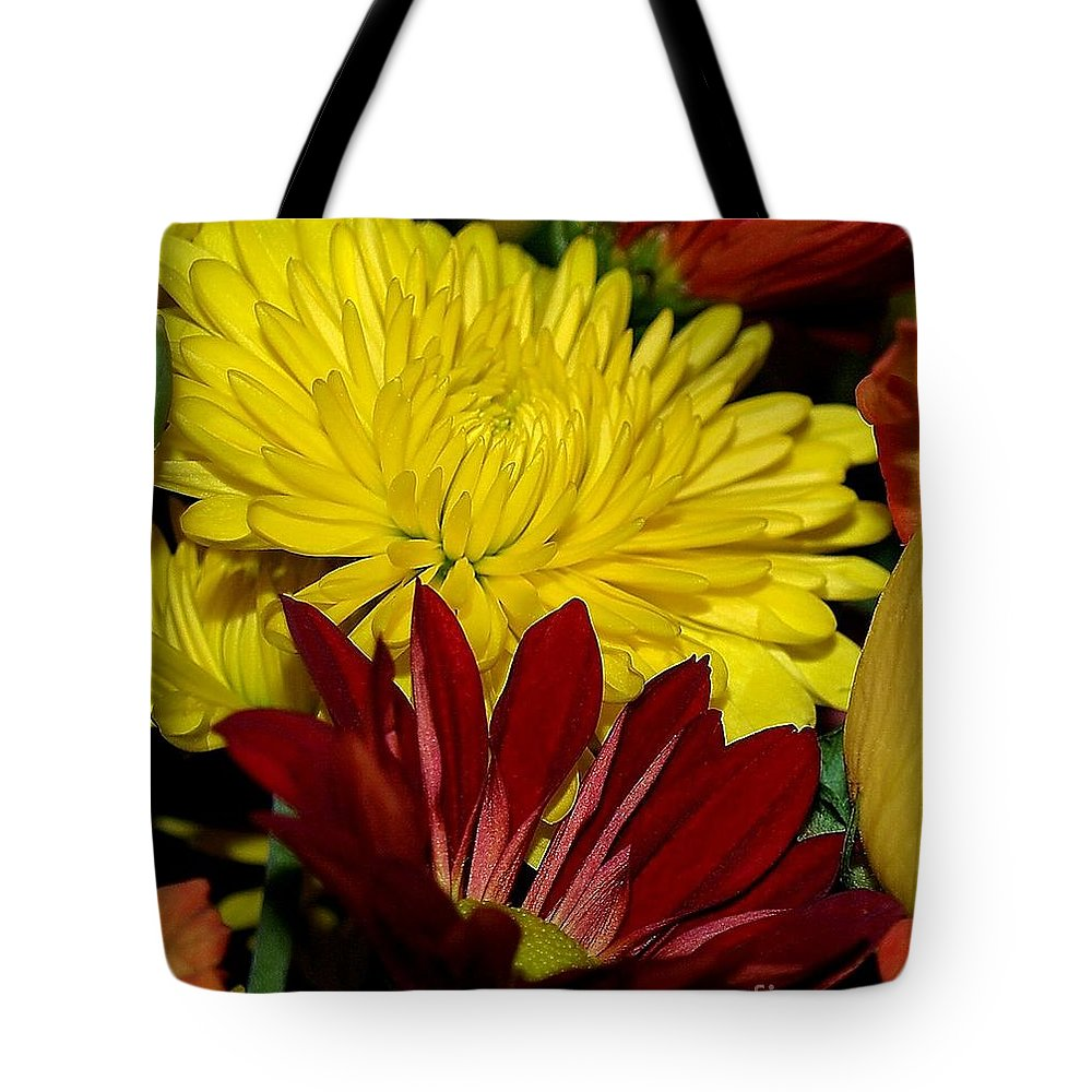 Chrysanthemum Photography Tote Bag featuring the photograph Autumn Colors by Patricia Griffin Brett