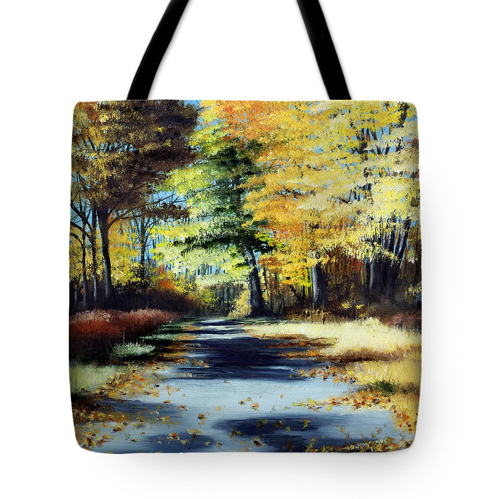 Landscape Tote Bag featuring the painting Autumn Colors by Paul Walsh