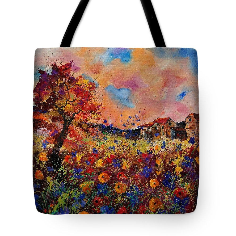 Poppies Tote Bag featuring the painting Autumn Colors by Pol Ledent