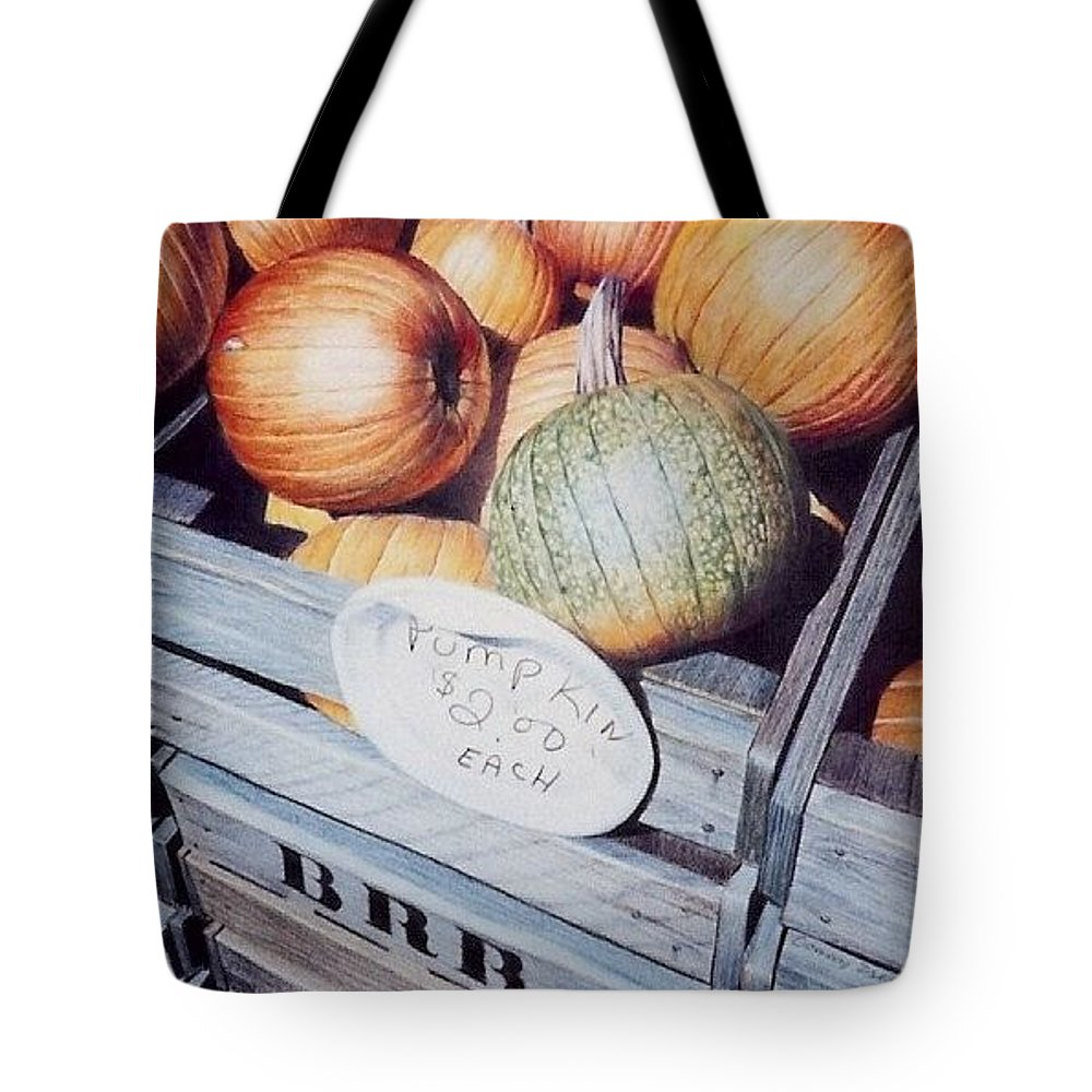 Orange Tote Bag featuring the painting Autumn by Constance Drescher