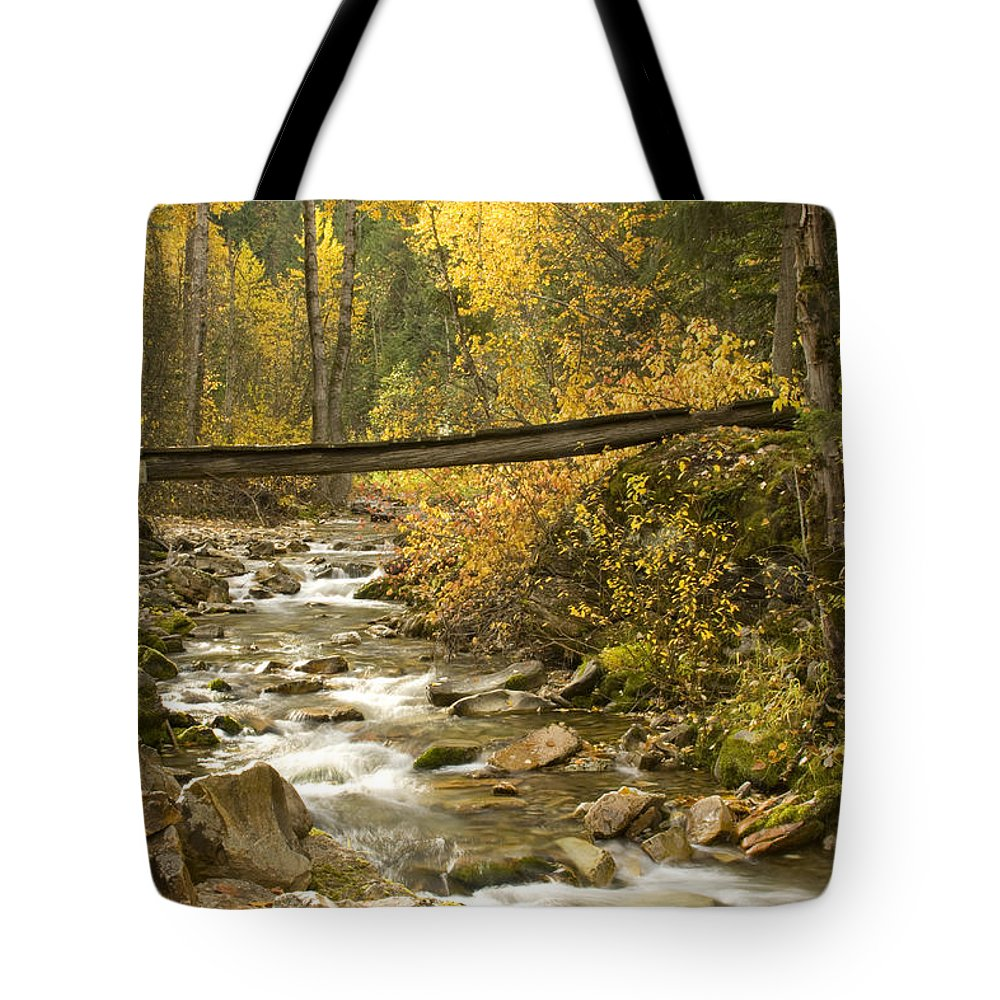 Cross Tote Bag featuring the photograph Autumn Crossing by Idaho Scenic Images Linda Lantzy