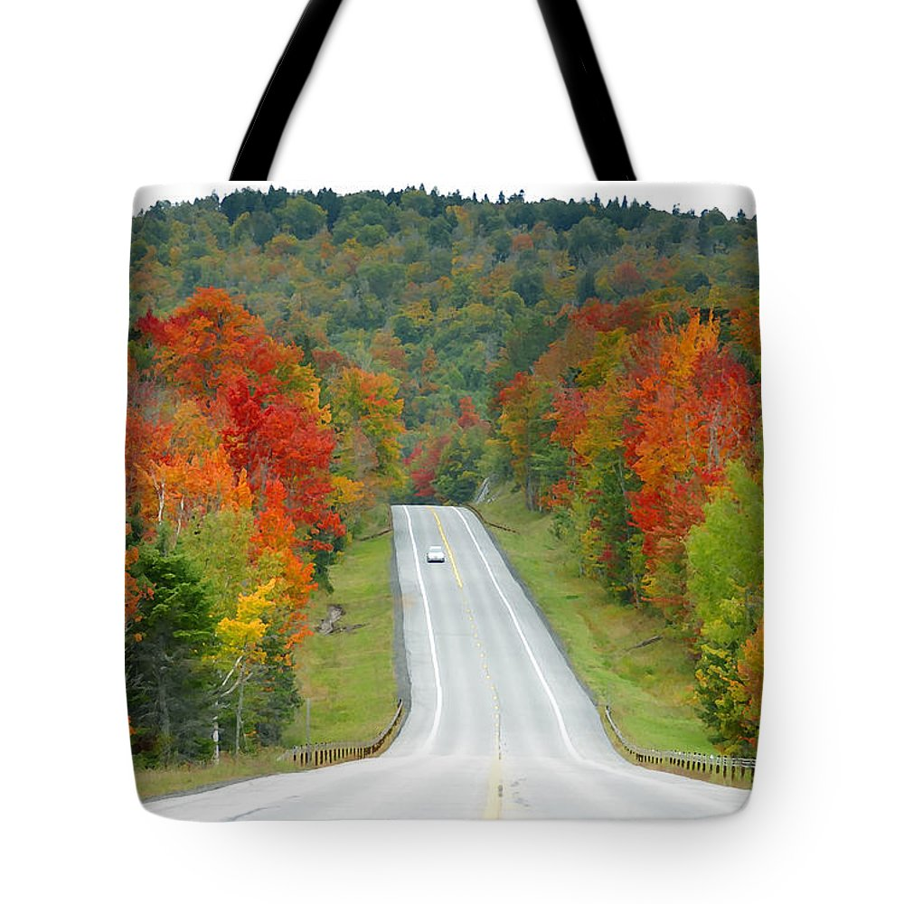 Autumn Tote Bag featuring the photograph Autumn Drive by David Lee Thompson