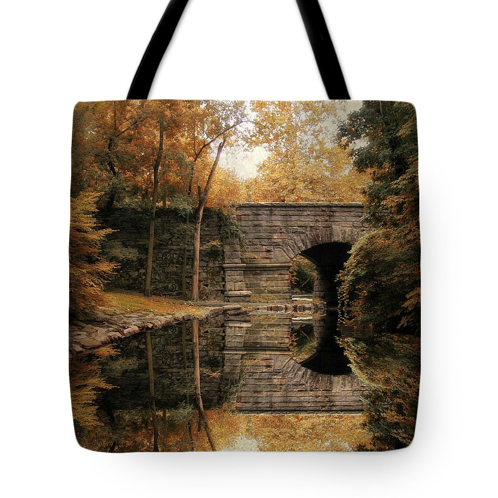 Autumn Tote Bag featuring the photograph Autumn Echo by Jessica Jenney