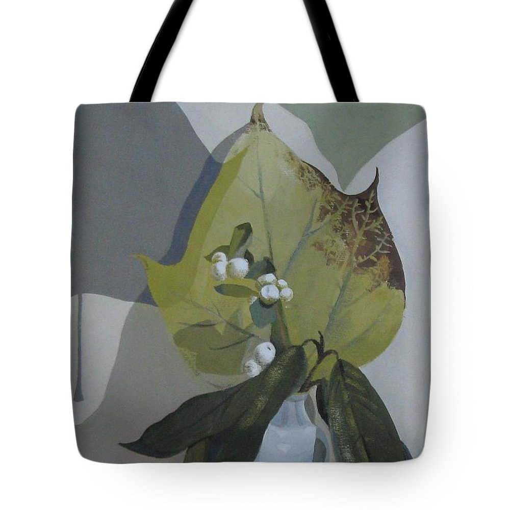 Still Life Tote Bag featuring the painting Autumn by Elena Oleniuc