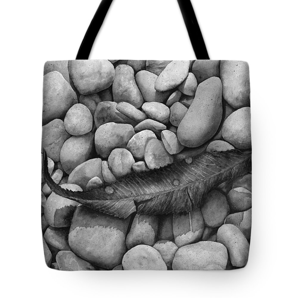 Paintings Tote Bag featuring the painting Autumn Epilogue On Black by Hailey E Herrera