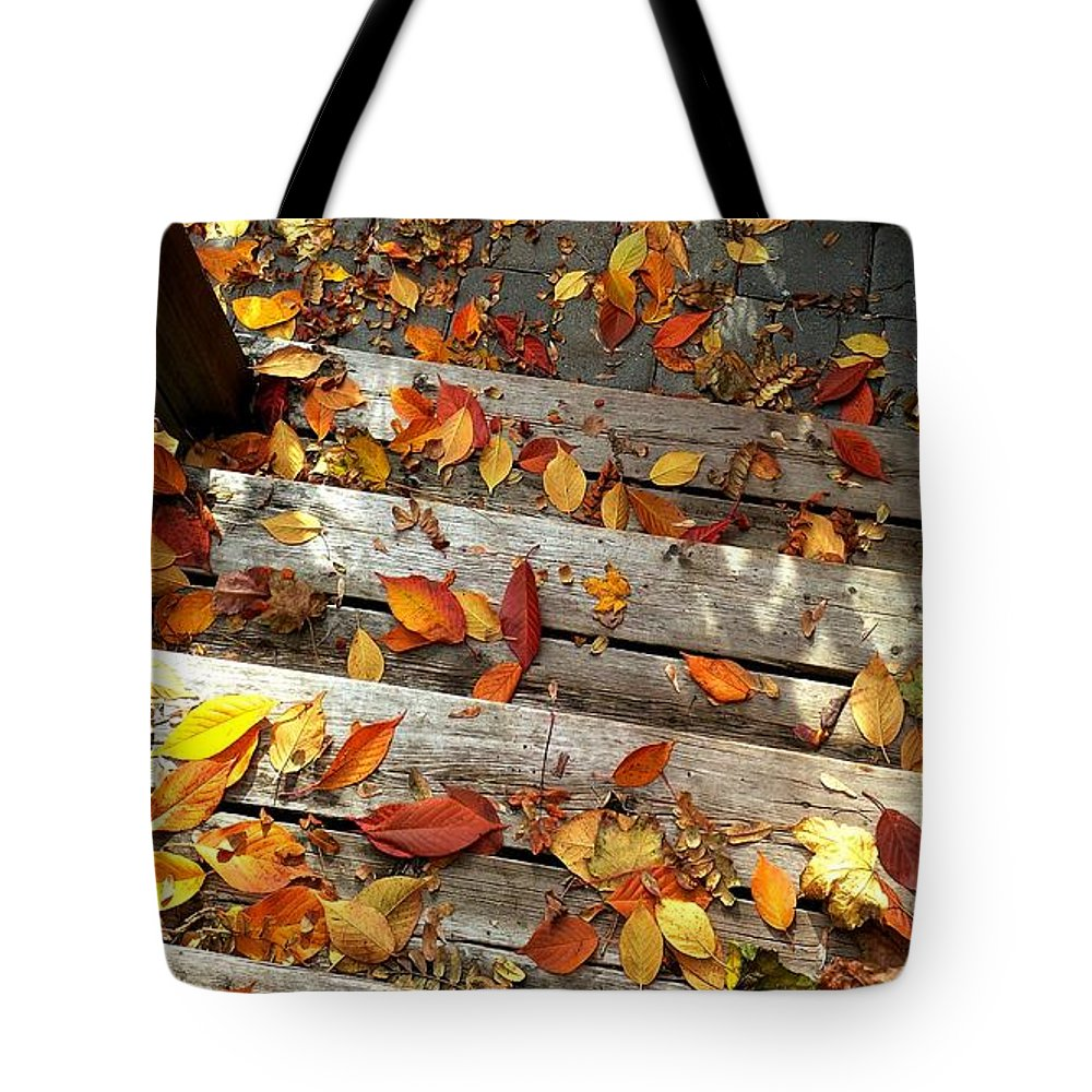 Autumn Tote Bag featuring the photograph Autumn Falls by Jennie Perry