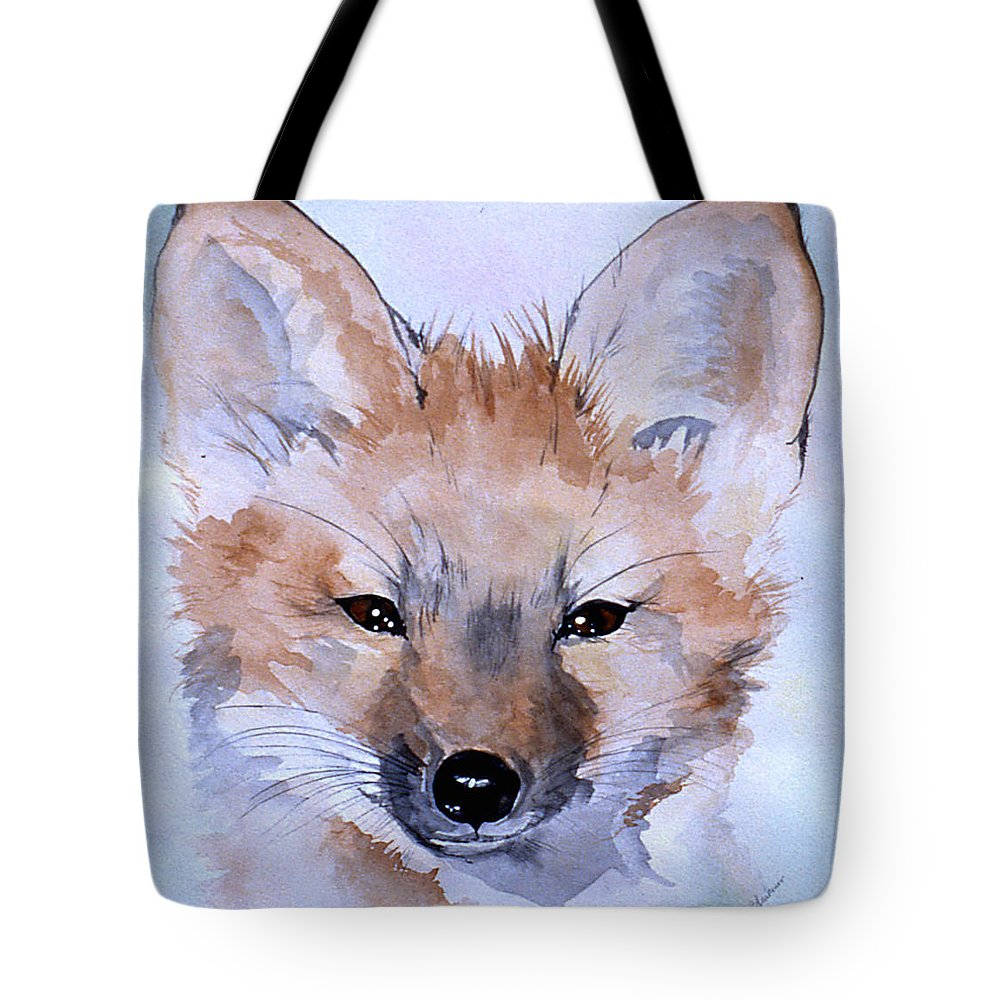 Fox Tote Bag featuring the painting Autumn Fox by Jean Blackmer