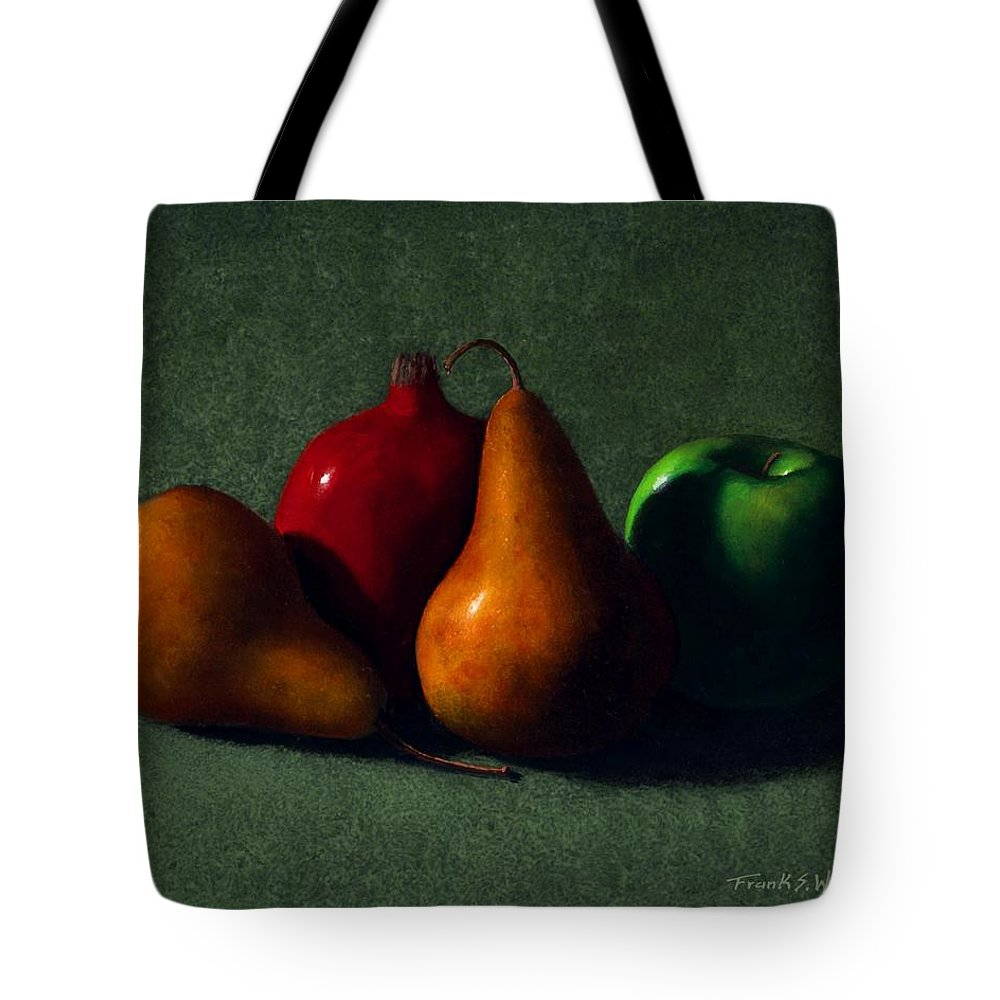 Still Life Tote Bag featuring the painting Autumn Fruit by Frank Wilson