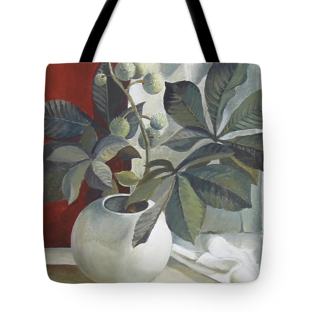 Still Life Tote Bag featuring the painting Autumn Fruits by Elena Oleniuc