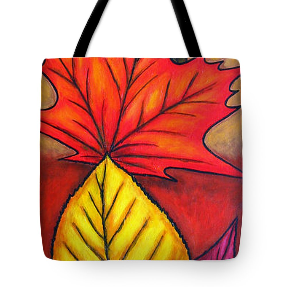 Autumn Tote Bag featuring the painting Autumn Glow by Lisa Lorenz