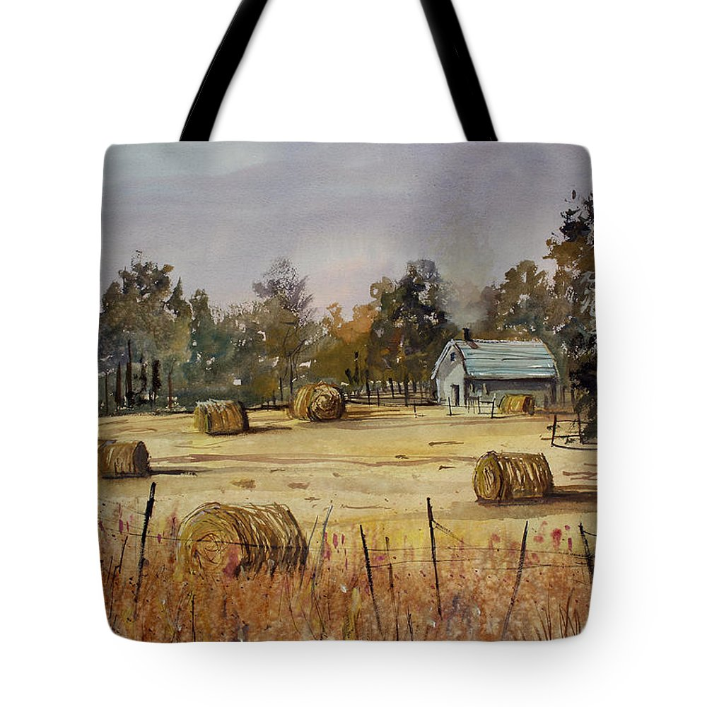 Paintings Tote Bag featuring the painting Autumn Gold by Ryan Radke