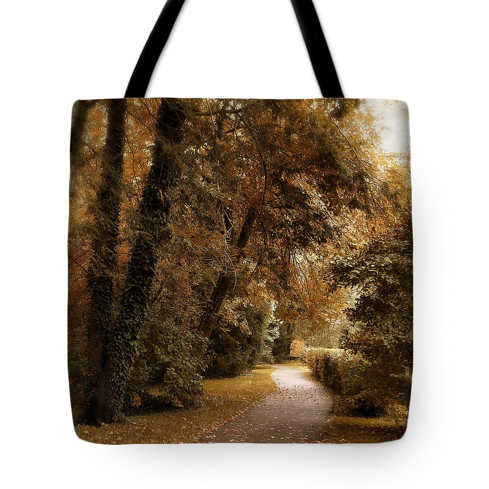 Autumn Tote Bag featuring the photograph Autumn Grove by Jessica Jenney