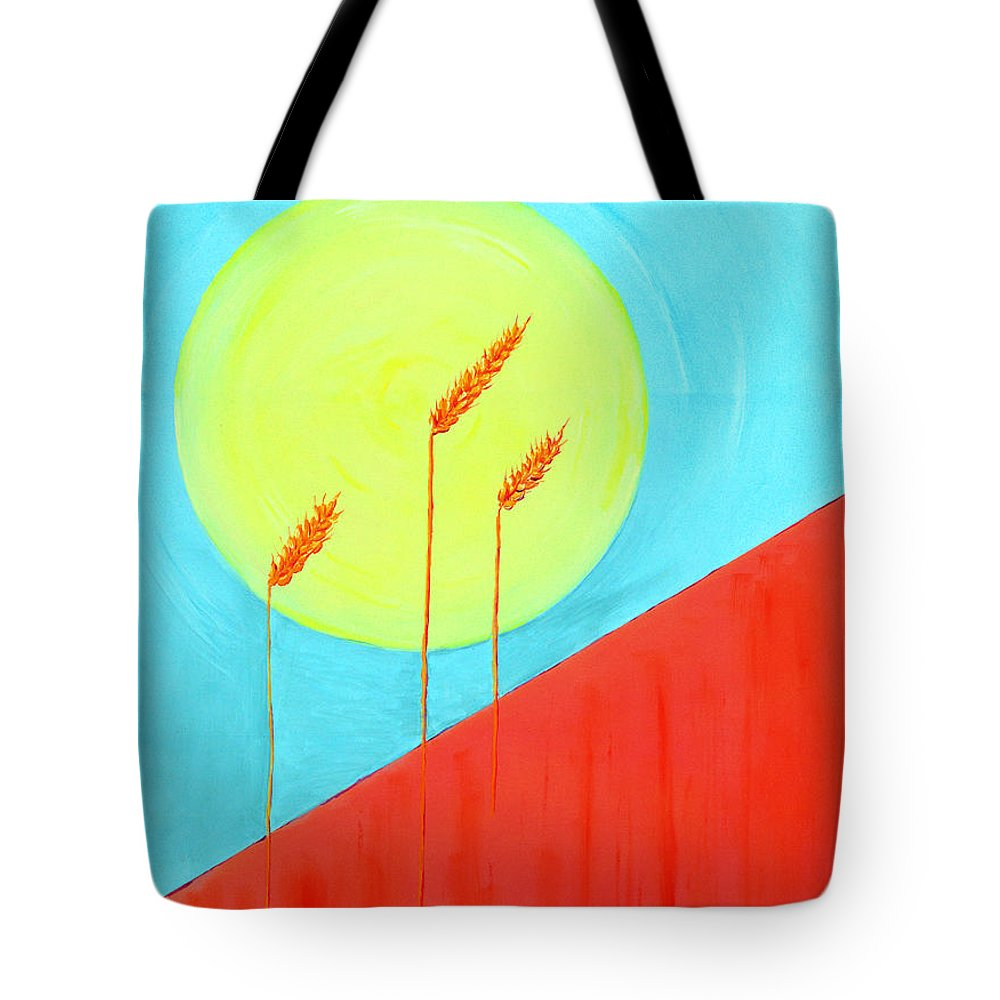 Landscape Tote Bag featuring the painting Autumn Harvest by J R Seymour