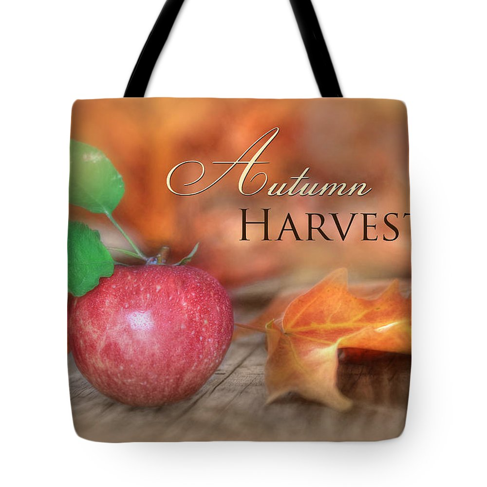 Apple Tote Bag featuring the photograph Autumn Harvest by Lori Deiter