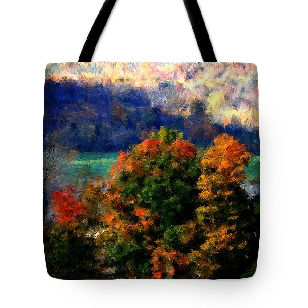 Digital Photograph Tote Bag featuring the photograph Autumn Hedgerow by David Lane